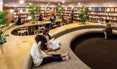 Woman's inspiration library completed by Masayoshi Nakanishi in Japan - I spy… unique library designs with focus on personalized comfort. (WiL Woman's inspiration Libr - Public Library Design, Bookstore Design, Library Cafe, School Library Design, Kids Library, Central Library, Library Ideas, Architecture Design, Library Architecture