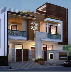Modern Small House Design, Modern Exterior House Designs, Latest House Designs, Cool House Designs, Exterior Design, Exterior Colors, 3 Storey House Design, Bungalow House Design, Modern Bungalow