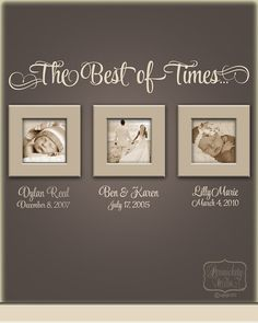 The Best of Times... - vinyl wall quote with Personalized name and date lettering- choose your color on Etsy, $23.00