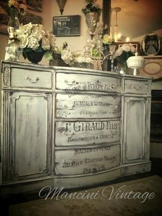#mancini vintage #white #chateau #hand scripted