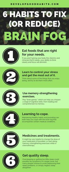 6 Habits to Fix and Reduce Brain Fog Six are things you can do to cope prevent or lessen the effects of brain fog self help self improvement Good Habits, Healthy Habits, Healthy Brain, Healthy Life, Healthy Living, Wellness Tips, Health And Wellness, Chronic Stress, Chronic Illness