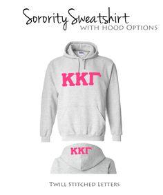 Kappa Kappa Gamma Sweatshirt I Pink Greek Letters $39.98