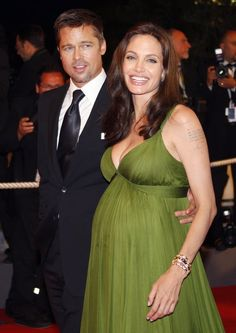 Brad Pitt joined his girlfriend Angelina Jolie at the Cannes Film Festival in May 2008 — she was pregnant with the couple's twins, Knox and Vivienne, at the time. Vivienne Marcheline Jolie Pitt, Shiloh, Jennifer Aniston, Holy Shirt, Brad Pitt And Angelina Jolie, Star Wars, Glamour, Celebs, Celebrities