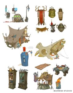 I'm a visual development artist at Walt Disney Animation Studios. This is work done off the clock. All work © Cory Loftis Bg Design, Prop Design, Game Design, Environment Concept Art, Environment Design, Game Art, Illustrations, Illustration Art, The Big Hero