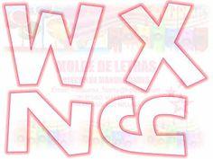 Fomi Moldes: Semana 50: Abecedario Hermosas Letras Rosas Alphabet Templates, Bubble Letters, Cool Fonts, Creative Cards, Bead Crafts, Worksheets, Coloring Pages, Cross Stitch, Symbols