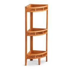 Teak Corner Stand Shelf Unit