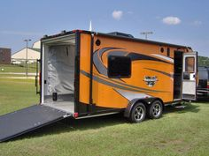 7x20 camper enclosed motorcycle cargo trailer toy hauler A/C work and play  VRV