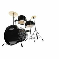 """Sound Percussion Deluxe Jr. 3-Piece Drum Set Black by Sound Percussion. $129.99. 16 x 12"""" kick8 x 5"""" mounted tom10 x 4-1/2"""" snareKick pedalCymbal standHi-hat standThroneStarter crash and hi-hat cymbals. The Deluxe Junior 3-piece Drum Set Sound Percussion is a real drum kit that was designed with the little drummer in mind. Smaller-than-standard drum sizes include a 16 x 12"""" bass drum, 8 x 5"""" mounted tom, and a 10 x 4-1/2"""" snare.The kit includes a full hardware pack: kick..."""