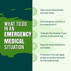 What to Do in an Emergency Medical Situation Calm Down, Medical, Let It Be, Medicine