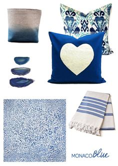 Monaco blue blue home decor items!