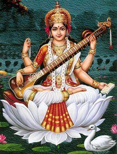 DEVI MAA SARASWATI PUJA  An important part of the holy trinity (Lakshmi, Parvati and Saraswati), Maa Saraswati is the mother... - Shravani Ghosh - Google+