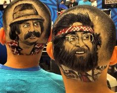We'll share work of Rob the Original who is a Hair Artist & Master Barber. Master Barber, Cheech And Chong, Hair Photo, Cool Haircuts, Hair Art, Cool Artwork, Starbucks, Pop Culture, Stylists