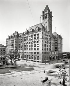 Amazing Photo of the Old Post Office, Washington, DC. Vintage b&w photo.