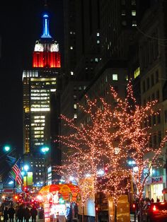 Christmas in NYC with the flag is cool