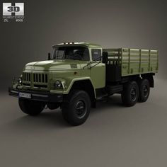 ZiL 131 Flatbed Truck 1966 3d model from humster3d.com. Price: $75