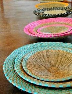 Stunning basket ware made using traditional weaving  techniques