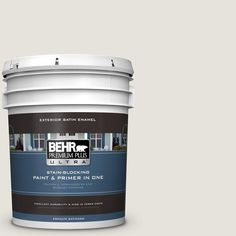 BEHR Premium Plus Ultra Home Decorators Collection 5-gal. #hdc-NT-21 Weathered White Satin Enamel Exterior Paint