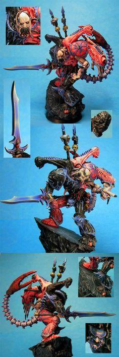 Slaaneshi-esque Daemon prince by wereweevil