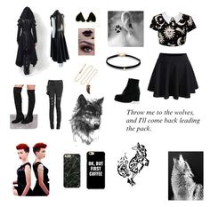 """""""Shewolf🌙"""" by ccrodriguez17 ❤ liked on Polyvore featuring Kill Star, Refresh, WithChic, Kenneth Jay Lane and Simons"""