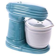 Ceramic Stand Mixer Salt and Pepper Shaker Set