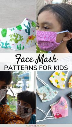 13+ DIY Face Masks for Kids | Learn how to make a face mask for kids with these free patterns! DIY the best face masks for kids with this list of free small mask patterns. There are even no-sew options.