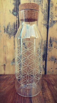 Glass setanimals glassdrinking glassesanimal spiritanimal sacred geometryglass pitcherengraved glassglass bottleflower of lifemandalacustom giftswedding giftshousewarming gift negle Images