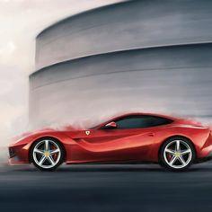 'Ferrari' by JasonVine Framed Prints, Canvas Prints, Laptop Sleeves, Ferrari, Stuff To Buy, Design, Photo Canvas Prints, Design Comics, Laptop Covers