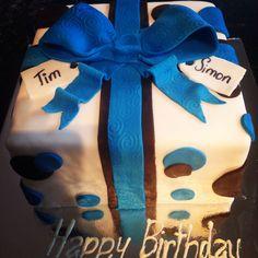 Fun present birthday cake