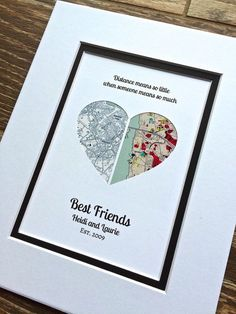 Long Distance Quote Gift Christmas For Best Friends Friendship Relationship Moving Away Or Going Present