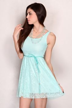 Seafoam Sleeveless Open Knit Belted Sexy Mini Party Dress @ Amiclubwear sexy dresses,sexy dress,prom dress,summer dress,spring dress,prom gowns,teens dresses,sexy party wear,women's cocktail dresses,ball dresses,sun dresses,trendy dresses,sweater dresses,