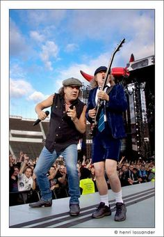 Brian Johnson and Angus Young -AC/DC