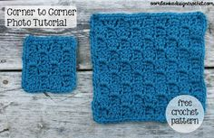 Corner to Corner Shell stitch ~ she offers a full written and photo tutorial and also offers a link for left handed crocheters! How wonderful! AND she tells how to take this design and make it whatever size you want!! A bed sized blanket would be awesome!!
