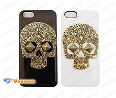 skull iphone 5 case skull iphone 4 case cute iphone by Veasoon, $10.99