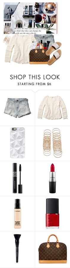 """""""JL"""" by jonaticaajesy ❤ liked on Polyvore featuring Abercrombie & Fitch, Hollister Co., Casetify, Forever 21, MAC Cosmetics, NARS Cosmetics and Louis Vuitton"""