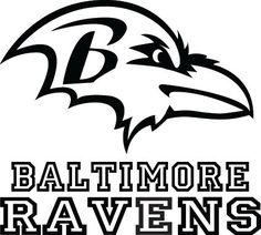 Baltimore Ravens 8 Quot X8 Quot White Decal Logo