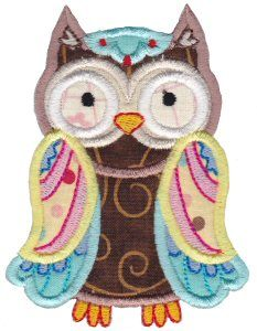 Embroidery   Free Machine Embroidery Designs   Bunnycup Embroidery   What A Hoot Applique