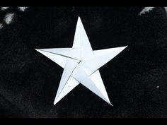 Weihnachtsprojekt - Origami - Stern aus Papier für Weihnachtsbaum - YouTube