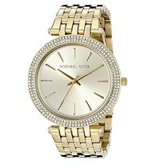 Generic Michael Kor Women's Water resistant Stainless Steel Gold-Tone Quartz Watch MK3191 ** Be sure to check out this awesome product.