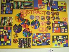 Abstracts with Alma Woodsey Thomas, Mondrian, and color wheels.