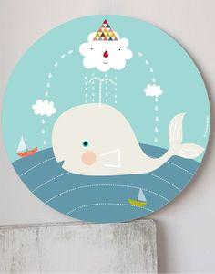 cuadro de una ballena con nubes Painting For Kids, Art For Kids, Whale Canvas, Under The Sea Crafts, Newspaper Crafts, Plate Art, Digi Stamps, Scrap, Nursery Art