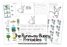 Free The Runaway Bunny Preschool Printables