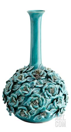 Stout Blue Nile Rose Vase Home Accessories at Art.com