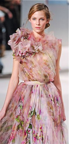Roses, Dress, Elie Saab