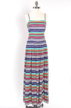 Pretty, stripey 70's maxi dress.