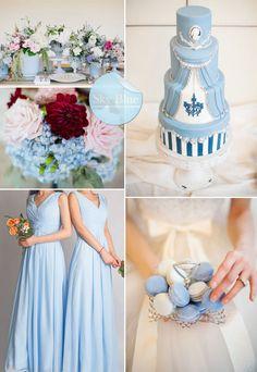 sky blue wedding theme - Google Search | Wedding planning ...