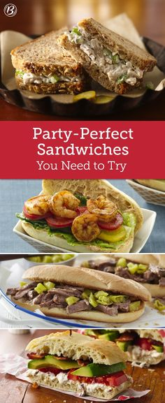 When you've got a bunch of hungry guests to feed, nothing beats these crowd-pleasing sandwiches. From taco subs to shrimp po boys, we've gathered up all the must-make sandwiches you need to try!