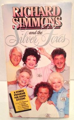 Richard Simmons Silver Foxes VHS Tape Fawcett Stallone Pacino Exercise Tone #RichardSimmons #SilverFoxes #Exercise #VintageExercise #Stallone #Fawcett #Pacino #VHS