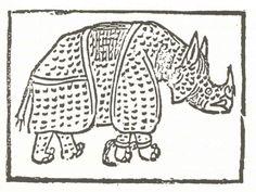 Forma e natura e costumi de lo Rhinoceronte. Roma, 1515.