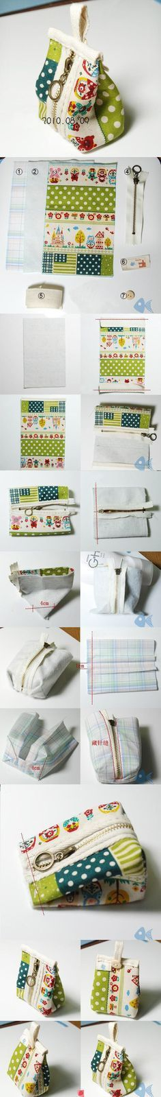 Tutorial photos only DIY Small HandbagDIY Small Bag, longer handle to convert to wristlet?Cute little bag…How to Make Stylish Fabric Handmade bags - Simple Craft Handmade Bags You'll Fall in Love With Sewing Hacks, Sewing Tutorials, Sewing Patterns, Free Tutorials, Craft Tutorials, Fabric Crafts, Sewing Crafts, Sewing Projects, Diy Projects