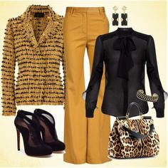 """""""yellow pants"""" (Etro Pussy Bow Blouse $665)"""
